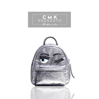 bag school cartoon - CMK KB159 Cool Shinning Glitter Bling Backpack for Girls Kids Fashion School Bags Children Bag Two Colors