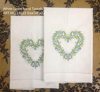 beautiful handkerchief - Home Textiles x22 quot White linen Ladies Handkerchief Beautiful heart embroidered One Hemstitched Edges Guest Towel Linen Hand Towel
