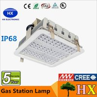 Wholesale Explosion proof canopy lights finned radiator W W W LED high bay light for GAS Station lights warehouse lamp years warranty