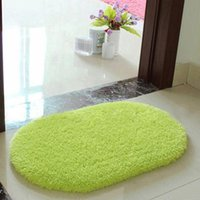 Wholesale 40 CM Plush Velvet Non slip Bedroom Floor Soft Plush Shaggy Mat Bath Bathroom Plain Foam Rug Cleaned Bath Mat W1