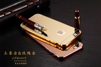 aluminium oxides - 24K plated Luxury Acrylic Mirror Aluminium iPhone7 Plus Oxide polishing metal frame Scratch mirror case