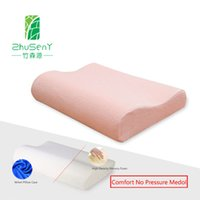 Wholesale Wave shape High density memory pillow slow rebound protect neck health support cervical vertebra MOQ Pieces