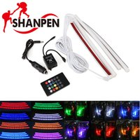 Wholesale 7 Color RGB Car Styling LED Strip Light Atmosphere Lamps Car Interior Light with Remote