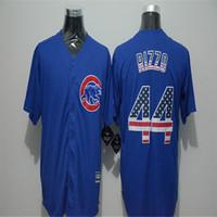 Wholesale Mens Fashion Flag Ver Kris Bryant Jason Heyward Anthony Rizzo Jake Arrieta Jersey Color Blue Baseball Jerseys