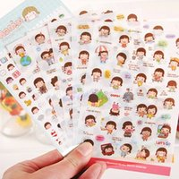 Wholesale 6 Sheets Cartoon Girl Planner Diary Stickers Biscuits Scrapbook Calendar Decor