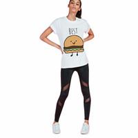 best fried - Sea Mea H706 Fashion Brand Summer T Shirt Women Tumblr Tees Hamburg French Fries Printed Funny Best Friends T Shirts