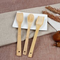 Wholesale Bamboo Spoon set natural environmental bamboo ladle three piece suit pan bamboo spoon set Kitchen supplies cooking good helper
