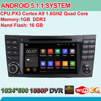 Wholesale 7 Inch HD Screen Quad Core Android Auto Radio Stereo For BENZ E Class W219 W211 Car DVD GPS BT IPOD WIFI G OBD RDS DVR USB SD