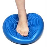 Wholesale cm PVC Balance Yoga Balls Massage Pad Wheel Stability Balance Disc Massage Cushion Mat Ball Fitness Exercise Training ball