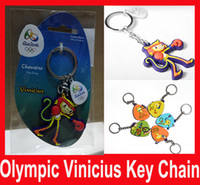 Wholesale 2016 Hotting Badge Rio de Janeir Brazil Olympic Games Vinicius PVC key chain Tom key chains