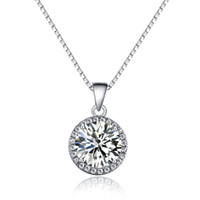 austrian crystal jewellery - Fashion Jewellery K Gold Plated Clear Genuine Austrian Crystal Rhinestone mm Round Pendant Necklace Gift For Women Elegant Party New Hot