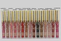 Wholesale 2016 Kylie lip gloss kylie Limited Birthday Edition Kylie jenner lip Matte liquid Lipstick mini gold kylie lip kit Gloss