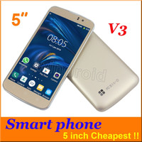 Wholesale 5 Inch Android Smart Mobile Phone H Mobile V3 Dual Sim Wifi M RAM Spreadtrum SC6820 Screen Dual Camera FM cheap colors