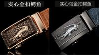 alloy steel grades - Men crocodile leather belt Leather belt high grade leather automatic buckle