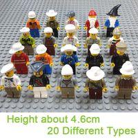 Wholesale Minifigures Building Blocks Sets Types Educational DIY Bricks Santa Worker Pirate Cowboy Captain Cook Action Figures Toys Promotion Gift