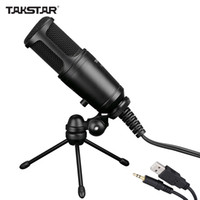 address cell phone - Takstar GL FX USB Cable Wired Condenser Side address Recording Mic Microphone with Tripod Desktop Mic Stand High Quality DHL I1567
