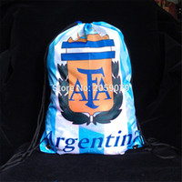Wholesale Argentina soccer Gym Swimming bag Scarf Sport football badge Fans gifts Souvenir Argentina football Scarf