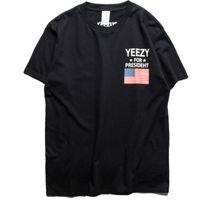 american flag t shirt - YEE ZY T Shirt Men High Quality Summer Cotton Hip Hop American Flag Tops Tees Yeezus Harajuku YEEZUS Men T Shirt Homme