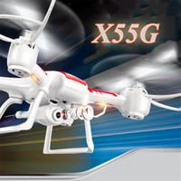SYMA Syma X55 X55C X55G RC Drones Quadcopter avec caméra de contrôle à distance Drone aérienne avec des hélicoptères 2MP caméra HD pour enfants jouets