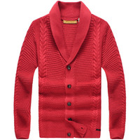 Wholesale Men s casual shawl collar solid color sweater cardigan