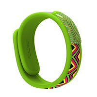 Wholesale Auberge Kids Mosquito Repellent Band Bracelets Anti Mosquit Wristband Hand Ring For Babies Kids Deet Or Mosquito Bite Summer Camping Green