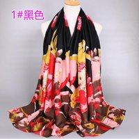 2017 otoño invierno mejor reparto manera de las mujeres de la mariposa flor impresa suave del silenciador de la bufanda del algodón del mantón del abrigo de regalo 1PC 180 * 80cm regalos al por mayor