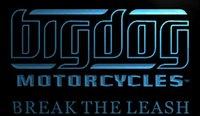 big dog motorcycles - LS947 b Big Dog Motorcycle Neon Light Sign jpg