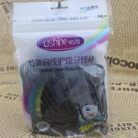 Wholesale bamboo charcoal Dental water floss oral irrigator Jet Interdental Brush Tooth Dental Floss For Teeth bag