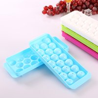 Wholesale Sphere Ice Cube Trays Stocked Eco Friendly Feature and Blue Color PP Material Ice Balls Tray Drop Shipping
