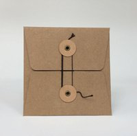 Wholesale Kraft Paper CD DVD Sleeves Envelopes Holder Cover Paperboard Durable Brown