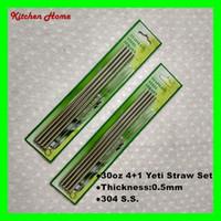 bar straws - 10 Inch oz Straight Drinking Straw and Brush Set For Yeti Mugs Stainless Steel Yeti Tumbler Straws Bar Drinking Straws