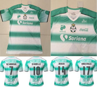 Wholesale Mexico Club Santos Laguna Torreon soccer jersey thai quality Mexico club Santos Laguna home green soccer football Jersey S XXL