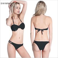 bething suits - new high quality Hot sale summer women bikinis set solid bikini push up high quality low waist beach bething suit women swimwear
