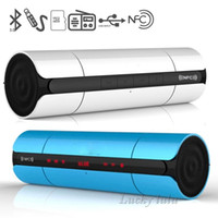 touch screen portable computers - KR NFC Bluetooth Speaker D Surround Super Bass Touch LED Screen FM Radio Support TF card U disk Hifi Speaker