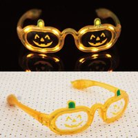 Wholesale Halloween Pumpkin LED Light Up Flashing Glasses Shades Favors Masquerade Makeup Party Bar Mask XMAS Christmas Festive Supplies HH G11