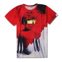 album cover sleeves - new fashion men women s stars Sexy Rihanna t shirt girl Album cover t shirts d printed tshirts top tee men s clothes dress