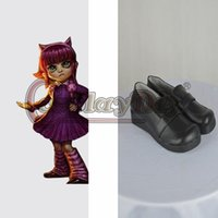 annie shoes - Custom Made LOL Cosplay Shoes Adult Annie Black Shoes Lolita Cosplay Shoes D0330