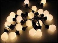 Wholesale Connectable cm ball festoon LED Globe string Lights bulb Outdoor Christmas fairy lights Garland Garden Party Wedding Decor