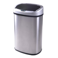 trash can - New Gallon Touch Free Sensor Automatic Stainless Steel Trash Can Kitchen
