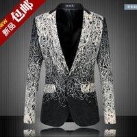Wholesale Size S XL Men s Floral Printed Slim Business Formal Suit Blazer Coat Jacket Leisure