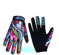 Wholesale Cycling Bike Bicycle Anti Slip Breathable Camouflage Skull Pattern Full Finger Gloves