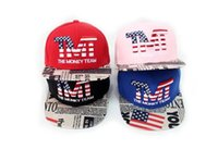 Wholesale The latest fashion tide brand baseball caps star lattice USA hats Street hip hop cap to provide