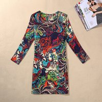 army dress code - European Dress Classic Printing Autumn Clothing Long Sleeve Will Code Suit dress Of Large Number Goods In Stock