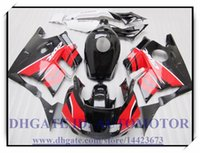 Cheap Fairing kits fit for HONDA CBR600 F2 1991 1992 1993 1994 black red CBR 600 RR F2 91 92 93 94 ABS fairings #AM82P + Tank