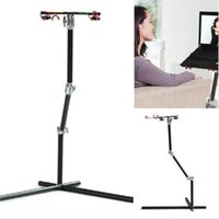 Wholesale Koolertron Black Aluminum Rotatable quot quot Universal Adjust Stand for Laptop With mouse Pad Desk Table KG Load Stand By DHL
