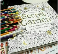 Wholesale 25cm cm Hot Secret Garden Treasure Hunt and Coloring Book For Children Adult Relieve Stress Kill Time Graffiti Painting Drawing Book