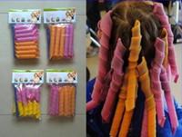 Wholesale DIY Amazing Magic Leverag Hair Curlers Curlformers Plastic Hair Roller Hooks Hair Styling Tools cm cm cm cm