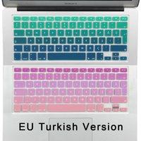 airs turkeys - Gradient Keyboard Cover Skin for Turkey MacBook Air Pro Retina Silicone Turkish Euro Enter Keyboard Stickers