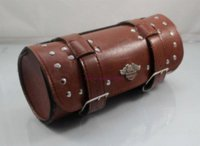 Wholesale 2014 New Black brown Prince s Car Motorcycle Saddle Bags Cruiser Tool Bag Luggage Handle Bar Bag Tail Bags
