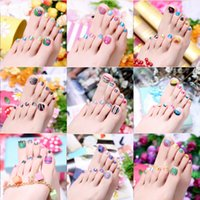 auto art decals - New Arrival Beauty Uv Gel d Toe Nail Art Foil Stickers Colored Stripes Anchor Design Manicure Auto Adhesive Decals